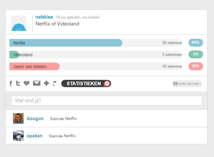 Kijk je liever Netflix of Videoland?